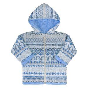 Téli kabátka kapucnival Baby Service Etnik tél  kék