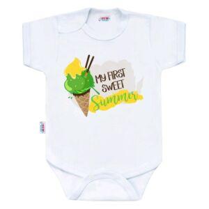 Body nyomtatással New Baby MY FIRST SWEET Summer zöld