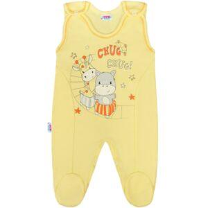 Baba rugdalózó New Baby chug sárga
