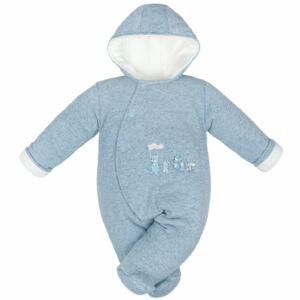 Téli baba kezeslábas Baby Service Animals világos kék