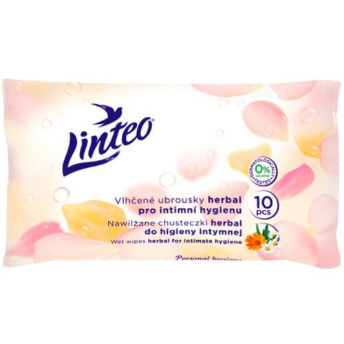 Nedves törlőkendő Linteo Satin intim 10 db