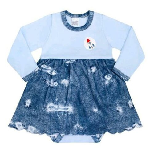 Baba body szoknyával New Baby Light Jeansbaby kék