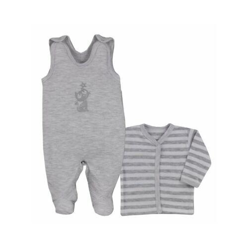 2-részes pamut baba együttes Bobas Fashion Ezüst cica szürke