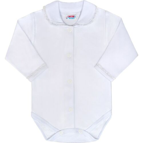 Luxus pamut baba body New Baby Princess fehér