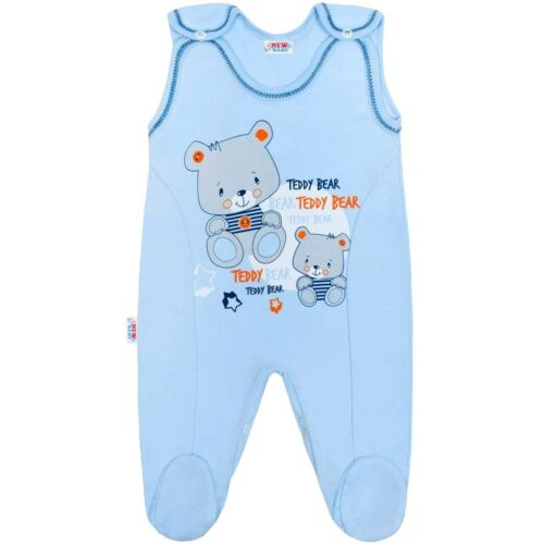 Baba rugdalózó New Baby teddy kék