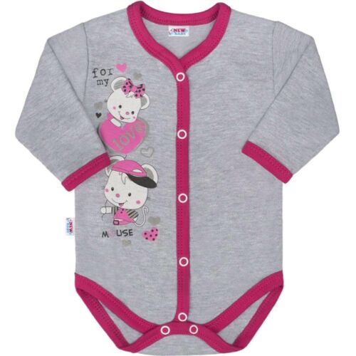 Baba body teljes hosszában patentos New Baby Love Mouse