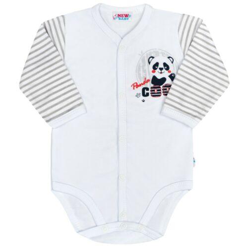 Baba teljes hosszában patentos hosszú ujjú body New Baby Panda