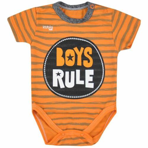 Baba nyári body Koala Boys Rule narancssárga