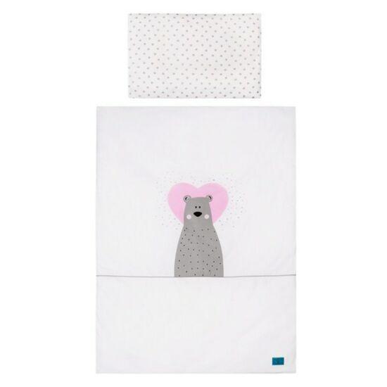 3-részes ágyneműgarnitúra Belisima Bear in love 90/120 rózsaszín