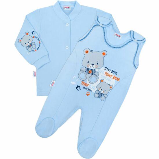 2-részes baba együttes New Baby teddy kék