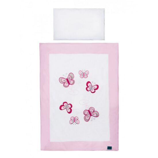 5-részes ágyneműgarnitúra Belisima pillangó 90/120 rózsaszín