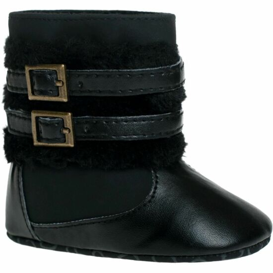 Gyermek téli cipő Bobo Baby 12-18h fekete csattal