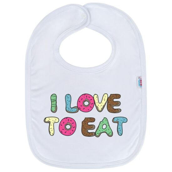 Gyerek előke New Baby I LOVE TO EAT