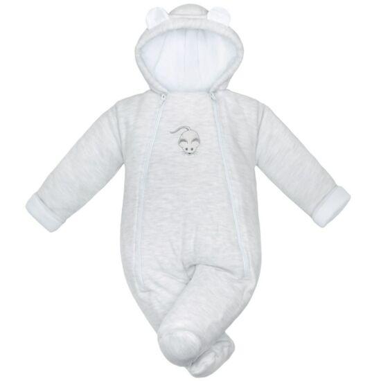 Téli baba kezeslábas Baby Service Mouse világos szürke