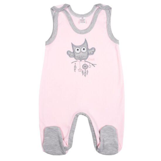 Baba rugdalózó New Baby Owl rózsaszín