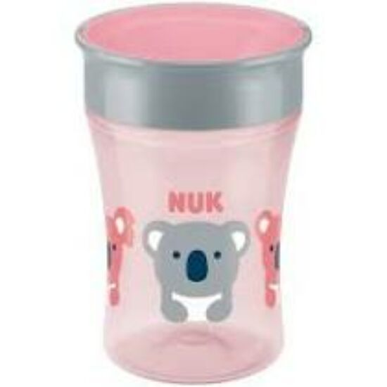 NUK New Magic Cup 360° itatópohár fedéllel, 230 ml -piros